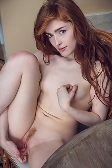 Jia Lissa in Before Dinner by Alex Lynn indoor redhead green eyes trimmed pussy ass fingering