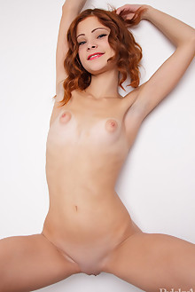 Emanuelle in Sidibenya by Rylsky indoor redhead blue eyes puffy nipples small tits shaved ass pussy