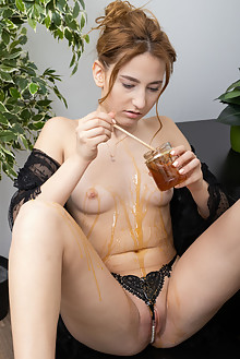 Deepika in Sticky and Gooey by Tora Ness indoor blonde shaved pussy