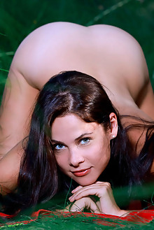 Martina Mink in Assets by Matiss outdoor woods sunny brunette blue eyes boobies busty shaved ass custom