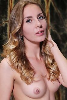 Bjorg Larson in Clear Visual by Leonardo indoor blonde blue eyes shaved pussy custom