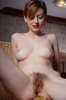 Lilu Rose in Silk Strap by Egon Schneider indoor brunette blue eyes boobies hairy unshaven pussy custom
