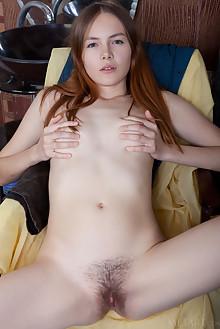 Shaya in Hobbyist by Albert Varin indoor redhead green eyes ...