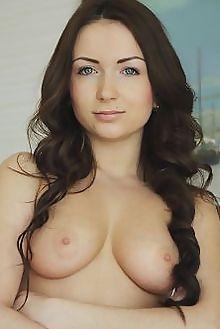 alexa day hinara flora indoor brunette blue boobies shaved ass pussy hips custom