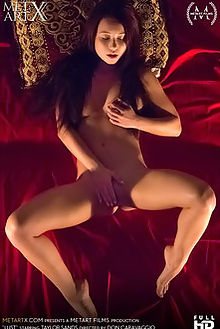 taylor sands lust don caravaggio indoor brunette brown pussy shaved fingering metartx films film videos video movies movie