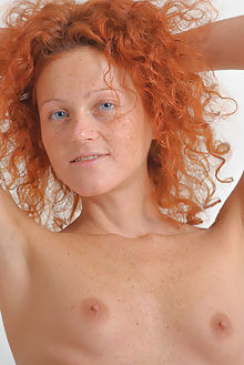 natalie red simplicity max asolo indoor redhead blue curly shaved pussy freckles freckled