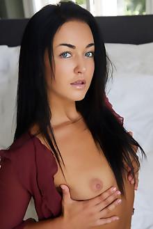 Presenting Zuzu Sweet by Erro indoor brunette black hair blue eyes petite small tits tanned shaved pussy custom