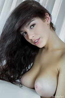 Evita Lima in Tirai by Rylsky indoor brunette black hair hazel eyes boobies shaved ass pussy pinky latest