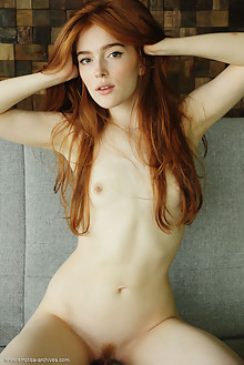 Presenting Jia Lissa 2 by Flora indoor redhead green eyes small tits hairy unshaven pussy ass hips latest