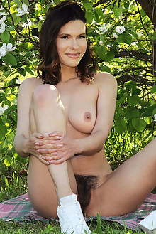 Suzanna A in Fierce by Fabrice outdoor brunette green eyes boobies hairy unshaven pussy