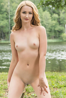 Presenting Leda A 2 by Tora Ness outdoor sunny river blonde shaved