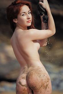 night a tierra arkisi outdoor redhead ass beach boobies shaved green