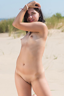 Presenting Zhenya Mille by Tora Ness outdoor brunette small tits sunny beach shaved