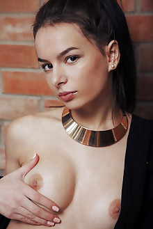 Debora A in Leiran by Arkisi indoor brunette brown eyes boobies shaved pussy labia ass custom latest