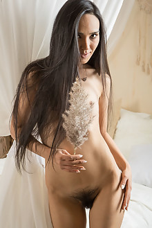 Rezza in Fur and Fluff by Ron Offlin indoor brunette brown e...