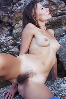 Rondy in Azul by Angela Linin outdoor brunette brown eyes boobies hairy unshaven pussy as latest