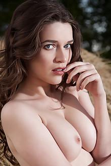 Serena Wood in Karemn by Nudero outdoor brunette blue eyes b...