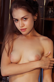 Maria Espen in Ferossa by Albert Varin indoor brunette brown eyes boobies shaved tight pussy latest