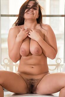 Sanita in Sanita 2 by Stan Macias indoor brunette boobies busty hairy unshaven pussy bush
