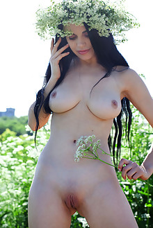Mirela A in Queen Of Nature by Quanty Rodriguez outdoor sunny brunette boobies shaved