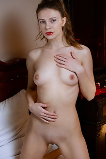 Elina De Leon in Glossy by Albert Varin indoor brunette gree...