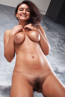 Sanita in Sanita by Ron Offlin indoor presenting new model brunette brown eyes busty boobies hairy unshaven bush pussy feet latest