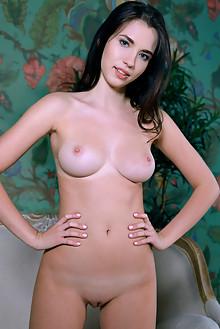 Velana in Striptease by Matiss indoor brunette black hair blue eyes boobies shaved ass pussy