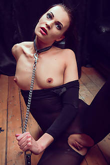 Mady in Naughty In Nylon by Higinio Domingo indoor brunette brown eyes bondage shaved pussy latest