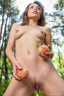 Susie in Feeling Fall by Karl Sirmi outdoor woods petite shaved pussy custom