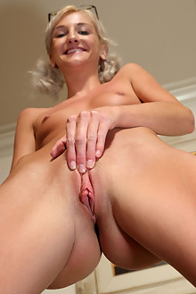 Tallie Lorain in Swell Peek indoor blonde shaved pussy toys
