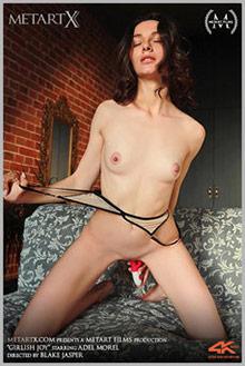 Adel Morel in Girlish Joy by Blake Jasper indoor brunette brown eyes shaved pussy fingering movies uhd video 4k