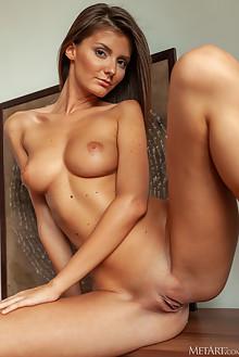 Sunshine A in Derriere by DeltaGamma indoor brunette brown eyes tanned boobies shaved custom