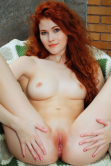 Adel C in Fenay by Arkisi outdoor sunny redhead hazel eyes boobies shaved pinky pussy ass hips custom