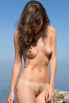 Presenting Carmela by Marlene outdoor sunny beach brunette brown eyes boobies wet trimmed ass pussy latest