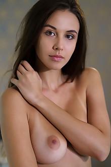 Alisa Amore in Prime by Luca Helios indoor brunette brown eyes boobies busty tanned shaved custom