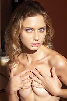 Clarice in Light Shines by Erik Latika indoor blonde blue eyes shaved pussy custom