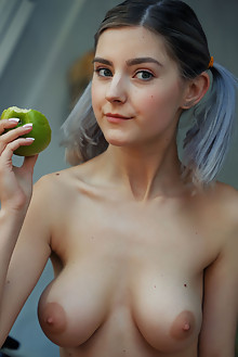 Eva Elfie in Veranda by Arkisi indoor blonde green eyes peti...