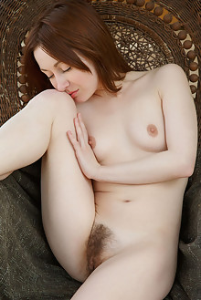 Night A in Nude and Natural by Rylsky indoor redhead green eyes small tits hairy unshaven pussy ass custom