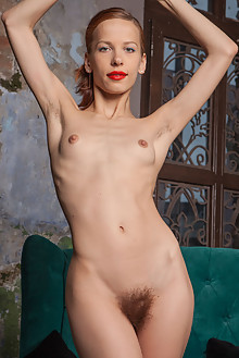Dennie in Au Naturale by Ron Offlin indoor redhead green eyes hairy unshaven bush ass latest