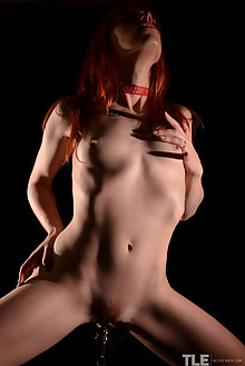 Riann in Spotlight by Thomas Harris indoor redhead hairy unshaven pussy