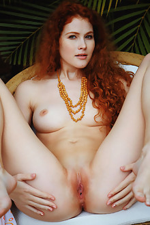 Adel C in Bomec by Arkisi outdoor redhead hazel eyes boobies curly hair shaved pinky pussy ass custom