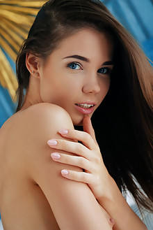 Lovenia Lux in Golden by Arkisi indoor brunette blue eyes sm...