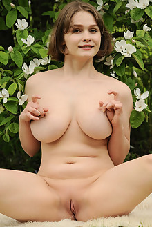 Aurelia Lu in Voluptuous by Fabrice outdoor sunny brunette green eyes boobies shaved ass pussy busty