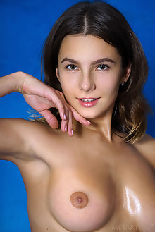Belka in Faux Fur by Luca Helios indoor brunette brown eyes boobies busty shaved pussy custom