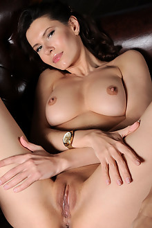 Suzanna A in I Mean Business by Fabrice indoor brunette green eyes boobies shaved pussy
