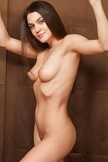 Vanda B in Masenn by Catherine indoor brunette brown hazel e...