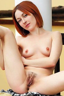 Night A in Mideza by Rylsky outdoor sunny redhead green eyes hairy unshaven pussy