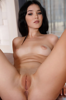 Malena in Chiare by Luca Helios indoor brunette black hair brown eyes boobies shaved tight pussy ass hips custom latest