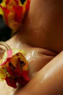 Liala in Pussy In Flowers by Thierry Murrell indoor shaved boobies