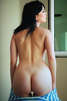 Malena in Cenete by Arkisi indoor brunette black hair brown eyes boobies shaved tight pussy ass